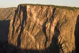 The Painted Wall Along the South Rim of Black Canyon of the Gunnison National Park