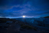 Moonrise over the Icy Fracture Zone of Russell Glacier