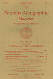 Cover of the January  1898 National Geographic Magazine