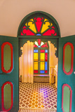 Arched Door in Le Jardin Des Biehn  a Riad or Small Hotel in the Medina of Fez