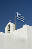 The Greek National Flag Atop a Ai Yiannis Detis Monastery