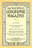 Cover of the April  1916 National Geographic Magazine