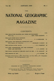 Cover of the January  1900 National Geographic Magazine