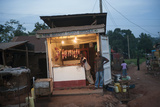 A Meat Stand Along the Road in Uganda  Africa