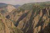 The Canyon Wall Along the South Rim of Black Canyon of the Gunnison National Park