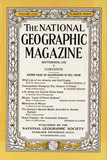 Cover of the September  1932 National Geographic Magazine