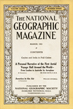 Cover of the March  1921 National Geographic Magazine