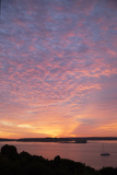 The Sun Rise over Fort Gorges and Casco Bay