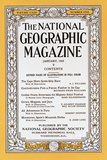 Cover of the January  1933 National Geographic Magazine