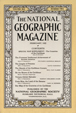 Cover of the February  1922 National Geographic Magazine