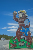 A Famed Road Sign of Smokey the Bear Warns Tourists of Forest Fire Danger Along US Highway 395