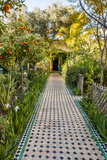 A Garden Path in Le Jardin Des Biehn  a Riad or Small Hotel in the Medina of Fez