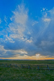 A Magnificent Sky at Sunset in the Gallatin Valley  Montana