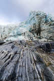 Striations Carved into the Bedrock by Ice Erosion as a Glacier Receded