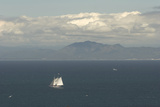 A Sailboat in Waters Off Anacapa Island in Channel Islands National Park