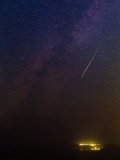 A Bright Meteor During Perseid Meteor Shower Streaks across the Night Sky