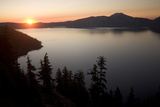 Crater Lake in Crater Lake National Park at Sunrise