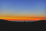 Sunset Glows over the Western Foothills of California's Sierra Nevada Mountains