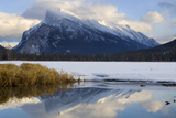 Mount Rundle and Vermillion Lake in Banff National Park