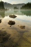 Battleship Islands in the Glacial Garibaldi Lake in Garibaldi Provincial Park
