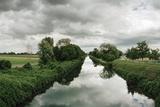 A Canal Cuts Through a Landscape Near the Rhine River