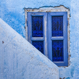 A Blue Painted Window in Le Jardin Des Biehn  a Riad or Small Hotel in the Medina of Fez