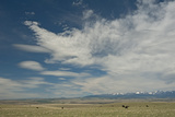 Cirrus and Lenticular Clouds over Prairies Surrounding the Crazy Mountains  Near Livingston