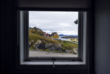 The View of Cottages in an Arctic Village Through a Weather-Sealed Window