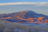 A Lenticular Cloud Hovers over Mount Baldy in the Bridger Mountains  Above the Gallatin Valley