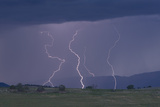 Multiple Lightning Strikes Find Ground