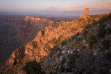 The Desert View Watchtower and Surrounding Grand Canyon