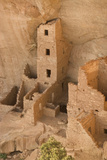 The Ruins of a Cliff Dwelling  Square Tower House  in Mesa Verde National Park