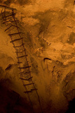 A Wire Ladder Installed in 1924 in the Big Room in the Carlsbad Caverns National Park  New Mexico