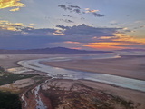 The Sun Sets over the Shoreline of Utah's Great Salt Lake