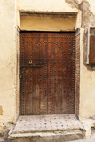A Wooden Doorway in the Medina of Fez