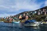 Fishing Boast in the Quiet Harbor of a Village on an Arctic Island