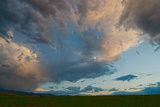 Dramatic Clouds Soar over Montana's Gallatin Valley Near Bozeman