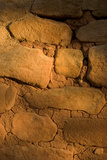 Brick Details of a Cliff Dwelling  Sun Temple  in Mesa Verde National Park
