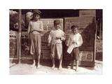 San Antonio Newsboys  Lewis Hine  1913