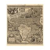 Spanish America  16th century map