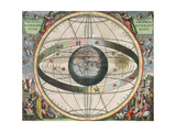 The Universe of Ptolemy  Harmonia Macrocosmica  1660