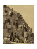 Climbing the Great Pyramid of Giza  19th Century