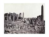 Karnak  Grand Temple Obelisks  19th century