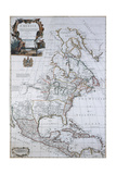 North American Map  1710