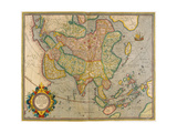Mercator's Map of Asia