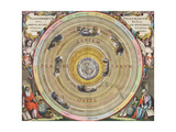 The Planisphere of Ptolemy  Harmonia Macrocosmica  1660
