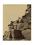 Climbing the Great Pyramid of Giza  19th Century