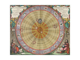 The Planisphere of Copernicus  Harmonia Macrocosmica  1660