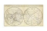 Map Marking Transit of Venus  1770