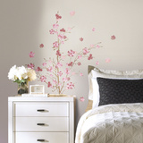 Pink Blossom Branch Peel and Stick Giant Wall Decals